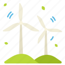 ecology, energy, environment, green, leaves, power, windmill icon