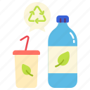 bottle, ecology, energy, environment, plastic, power, recycle icon