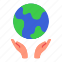 care, earth, ecology, environment, hands, save, world icon