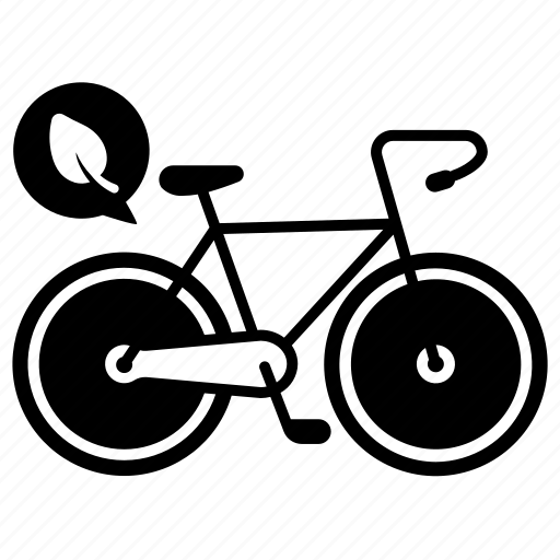 bicycle, ecology, environment, leaf, save, transport, vehicle icon