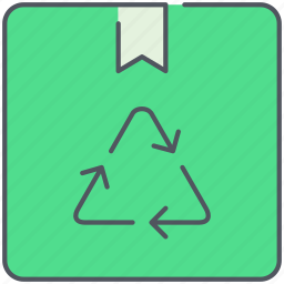 biodegradable, box, delivery, ecology, package, recycled, shipping icon