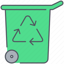 ecology, environment, garbage, recycle, recycled, remove, trash icon