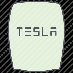 battery, charging, ecology, electricity, renewable, sustainable, tesla icon
