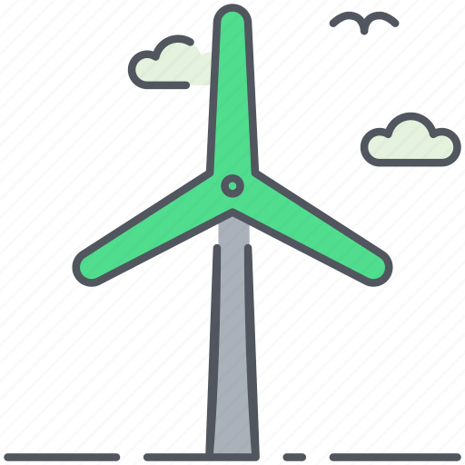 ecology, electricity, energy, renewable, sustainable, windfarm, windmill icon
