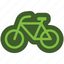 bike, bikecycle, go, green, icon, sport, transportration icon