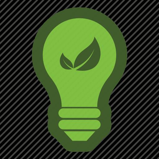 bulb, electric, go, green, icon, leaf, light icon