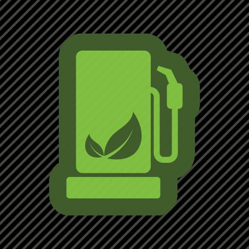 energy, fuel, go, green, icon, leaf, pump icon