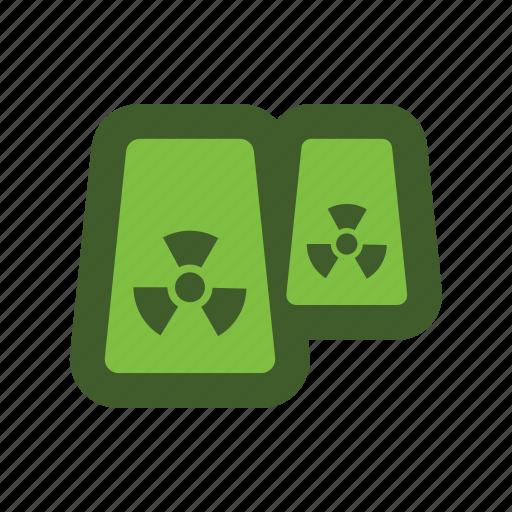 chimney, go, green, icon, radiation icon