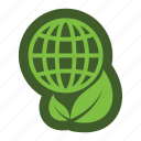 globe, go, green, icon, leaf icon