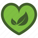 go, green, heart, icon, leaf, love icon