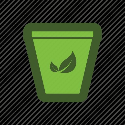can, go, green, icon, leaf, trash icon