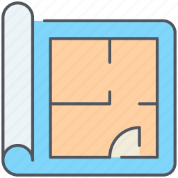 appartment, architectural, construct, floor plan, plan, real-estate, structure icon