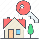construction, home, house, key, lease, real-estate, residential icon