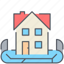 house, location, map, neighbourhood, property, real-estate, residential icon