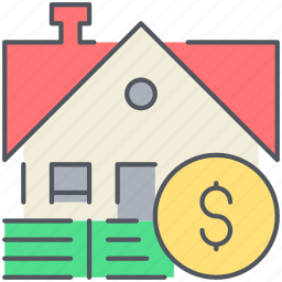 home, house, lease, money, mortgage, real-estate, residential icon
