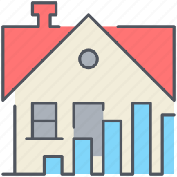 home, house, increase, price, real-estate, residential, stats icon
