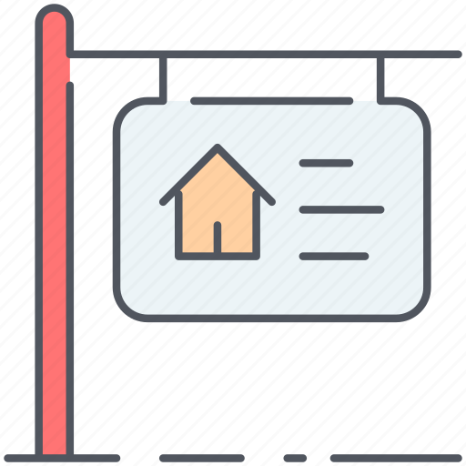 for sale, home, house, mortgage, property, real-estate, sign icon