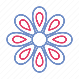 colorful, design, flower, flowers, leaf, leaves icon