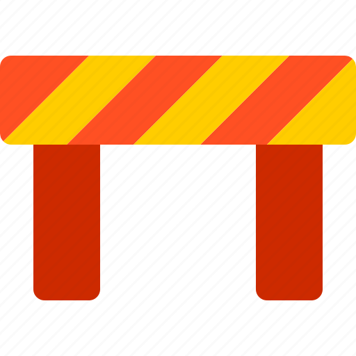 barricade, construction, danger, line, police icon