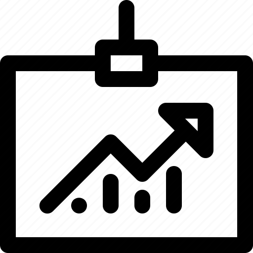 analytic, arrow, chart, presentation, up icon