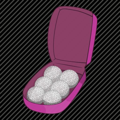 bag, balls, cartoon, flying, golf, sign, strike icon