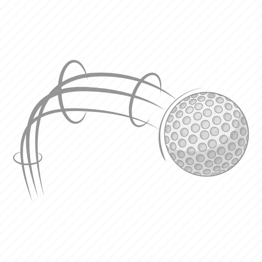 Ball, cartoon, flying, golf, kick, sign, strike icon - Download on Iconfinder