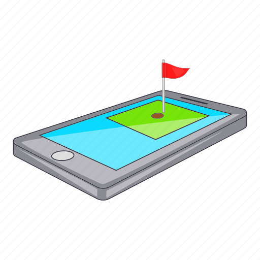 App, cartoon, course, download, golf, phone, sign icon - Download on Iconfinder