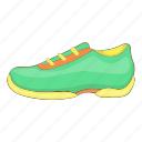 cartoon, fashion, footwear, green, shoe, sign, sneakers icon