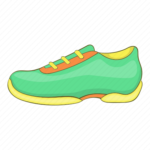 Cartoon, fashion, footwear, green, shoe, sign, sneakers icon - Download on Iconfinder