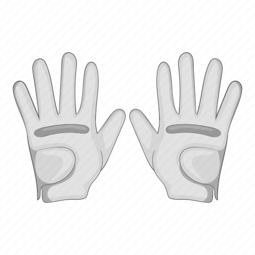 Cartoon, gloves, golf, leather, manufacture, sign, size icon - Download on Iconfinder