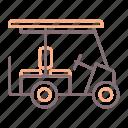 buggy, golf, vehicle icon