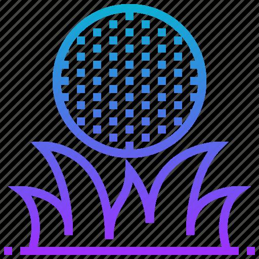 ball, golf, grass, hill, outdoor, sport icon