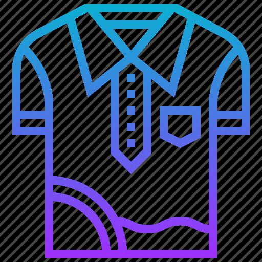 Outdoor, sport, golf, shirt, uniform icon