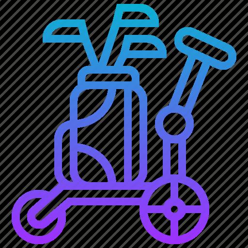 cart, golf, sport, trolley icon
