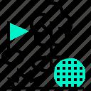 ball, flag, forest, golf, hole, sport