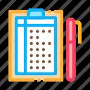 document, list, paper, pen