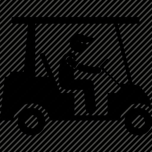 car, cart, driving, golf, golfer, transport, vehicle icon