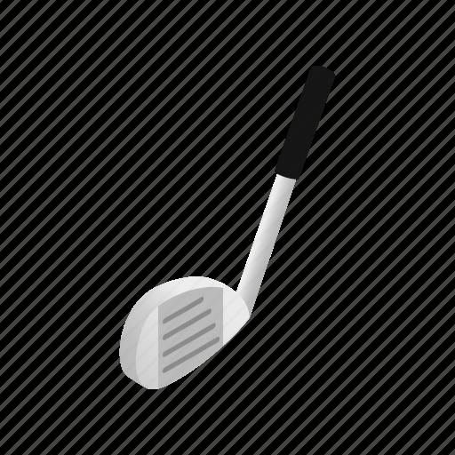 ball, club, detail, golf, isometric, leisure, sport icon