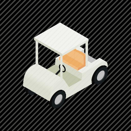 car, cart, club, golf, isometric, sport, vehicle icon