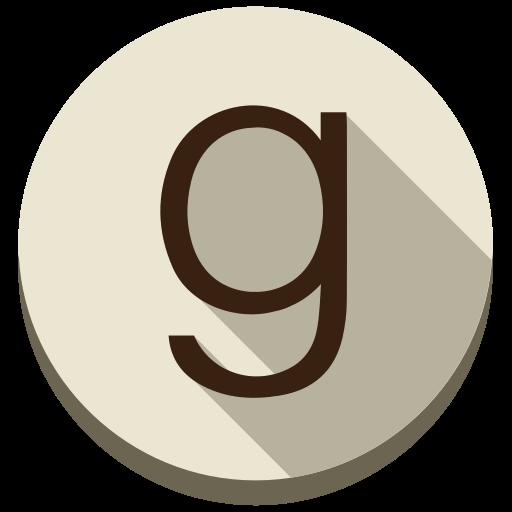 books, ebooks, g, goodreads, round, social media icon