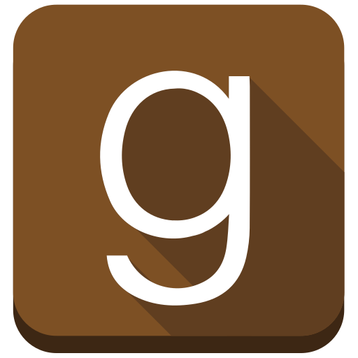 Books, ebooks, g, goodreads, social media, square icon - Free download