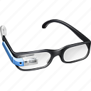 blue, gglass, glas, glasses, google, google glasses, googleglasses, gproject, project, sky icon