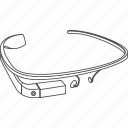 gproject, google, gglass, project, glass, construction, device, gadget, google project, structure, glasses, googleglasses, google glasses icon