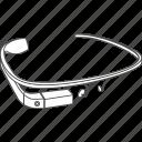 construction, device, gadget, gglass, glass, glasses, google, google glasses, google project, googleglasses, gproject, project, structure icon