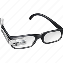 buzz, explore, gadget, gglass, glasses, google, google glasses, google+, googleglasses, gproject, plus, project, silver, view, watch icon