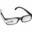 gadget, gglass, glasses, google, google glass, google+, googleglass, gproject, project, white icon