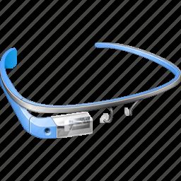 blue, gadget, gglass, glass, glasses, google, google glass, googleglass, gproject, project, sky icon
