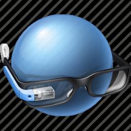 ai, gadget, gglass, glass, glasses, google, google glasses, googleglasses, gproject, idea, idiot, intellect, male, man, mind, profile, project, sphere, think, user icon