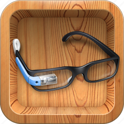 apple, device, gadget, gglass, glass, glasses, google glass, google project, googleglass, gproject, igoogleglasses, ipad, mobile, ok glass, project, wood icon
