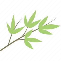 bamboo, branch, decoration, leaf, leaves, plant icon